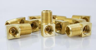 """(10) Brass Inverted Elbow, 90 Degree, Male - 1/4"""" x 1/4"""""""