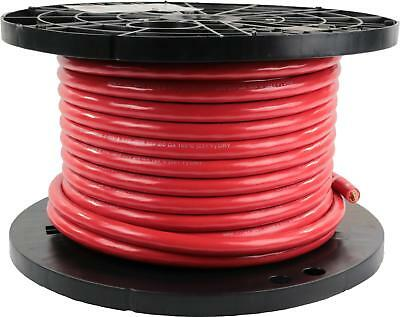 "2/0 Gauge Battery Cable, .605"" OD, Red, 100ft"