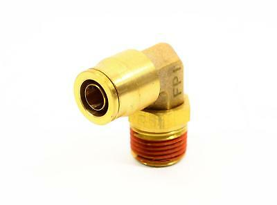 """(5) Brass Push-to-Connect Swivel Elbow, 90 Degree, Male - 1/2"""" x 1/2"""""""
