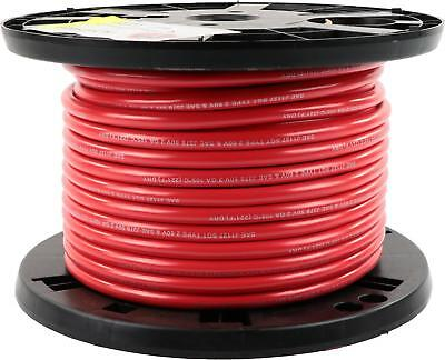 "2 Gauge Battery Cable, .410"" OD, Red, 100ft"