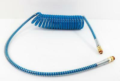 """15ft Blue Coiled Air Line with 40"""" Leads"""