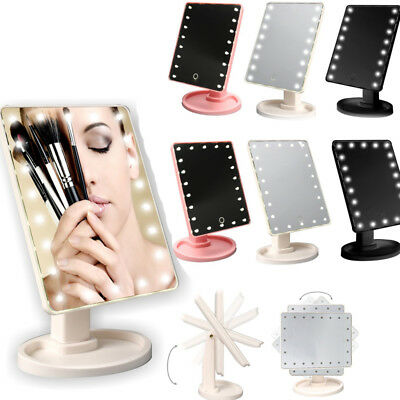 16/22 LED Touch Screen Makeup Mirror Tabletop Cosmetic Vanity light up Mirror