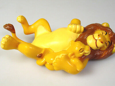 Disney Lion King toy Mufasa and baby Simba toy Figure cake topper figurine