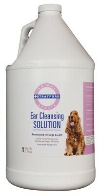 Ear Cleansing Solution for Dogs & Cats [Sweet Pea & Vanilla scent] (1 Gallon)