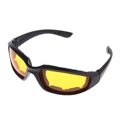 Motorcycle Windproof Dustproof Riding Glasses Padded Comfortable Yellow