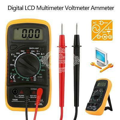 Digital Multimeter LCD Voltmeter AC DC Voltage Tester Circuit Checker BuZZER CA