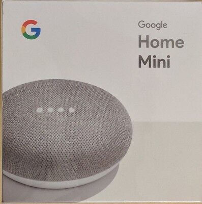 google home mini smart small speaker chalk grey brand new ships worldwide cad. Black Bedroom Furniture Sets. Home Design Ideas