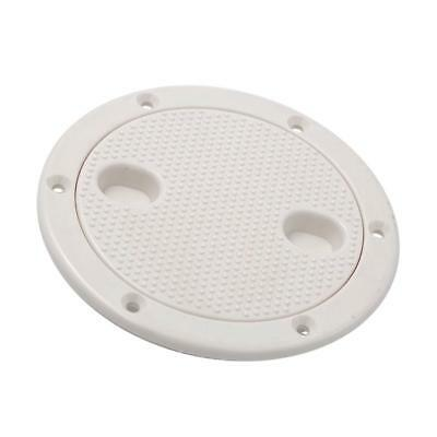 Marine Boat RV White 4 inch Access Hatch Cover Twist Screw Out Deck Plate