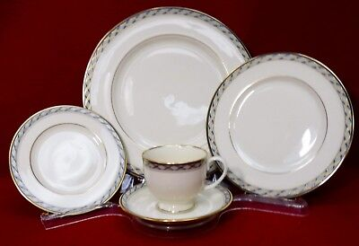 LENOX china HARRISON pattern 5-piece PLACE SETTING cup/saucer/dinner/salad/bread