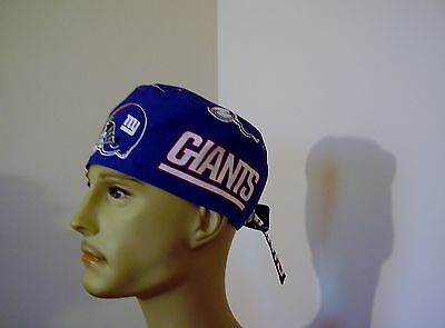 Surgical Scrub Cap/Hat Tieback- NFL- New York Giants - One size- Men Women