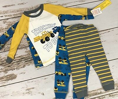 NEW Just One You Truckin To Bed 4 Piece Snug Fit Pants Sets Loungewear PJ (12M)
