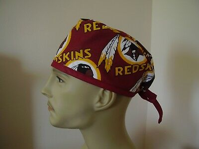 Surgical Scrub Hat/ Cap -NFL-WASHINGTON REDSKINS- One size- Handmade- Men Women
