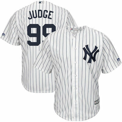 Youth New York Yankees Aaron Judge Majestic Home Authentic Cool Base Jersey