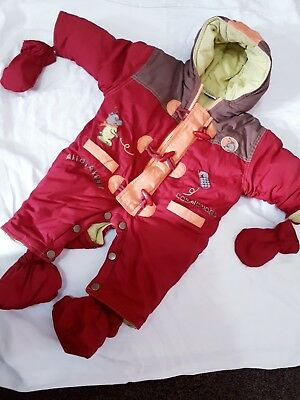 Baby Quilted All In One Romper Padded Snowsuit Age 0 _3_6 months