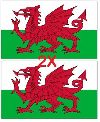 2X Wales Large Dragon Flag 5X3FT Welsh Rugby 6 Nations Football St Davids Day