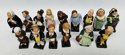 15 pcs Royal Doulton Dickens Series Miniature Porcelain Figurines Statues