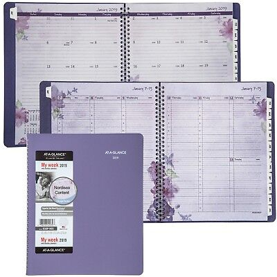 2019 At-A-Glance 938P-905 Beautiful Day Weekly Monthly Planner, 8-1/2 x 11""