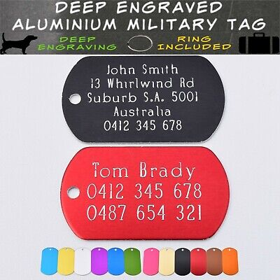 Traditional Deep Engraved Military Dog Tags