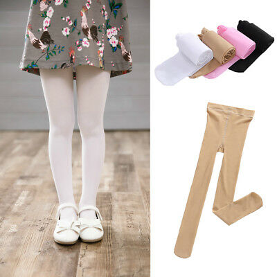 Child Kids Girls Solid Color Tights Pantyhose Ballet Dance Soft Pants 4 Colors