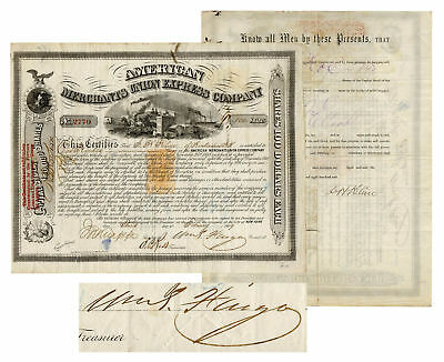American Express Stock Signed by William Fargo