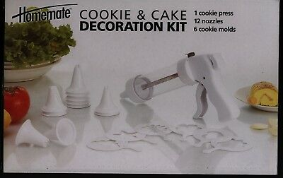 NEW Cookie & Cake Decoration Kit Cookie Press w/12 Nozzles