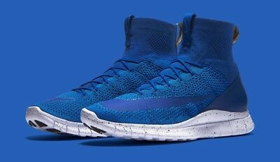 089abcee9b0d NIKE FREE MERCURIAL Superfly Flyknit Royal Blue CR7 Ronaldo Size 9.5 ...