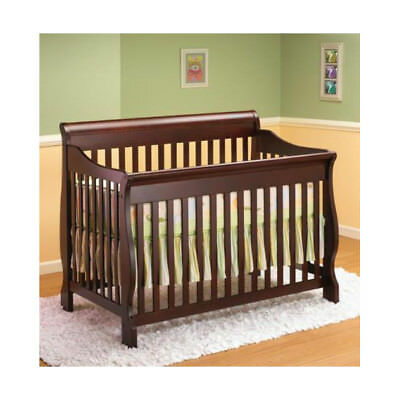 Lil Angels 3-in-1 Naples Convertible Baby Wood Crib - Espresso