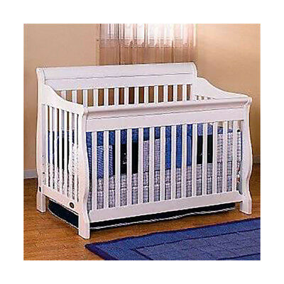 Lil Angels 3-in-1 Naples Baby Wood Crib - White