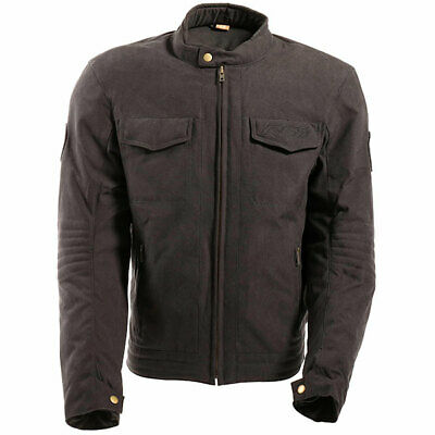 RST Isle Of Man TT Crosby CE Textile Motorcycle Cafe Racer Jacket - Charcoal