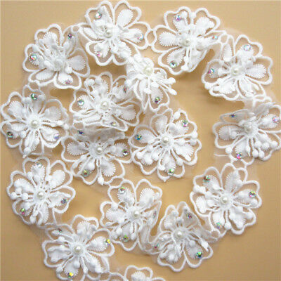 Wholesale 13yards/lot 5cm White Embroidered Lace Edge Trim Ribbon Sewing Craft