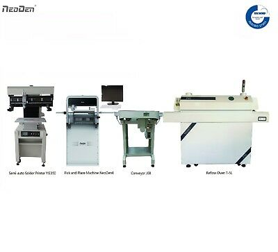 SMT PCB Assembly Line:Solder Printer/Pick and Place Machine/Reflow Oven/Conveyor