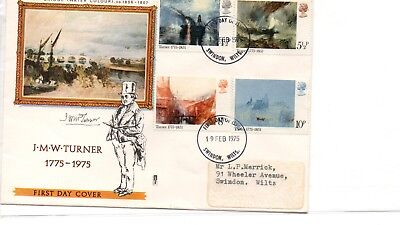 Gb - First Day Cover - Fdc - 1208- Specials - 1975 - Jmw Turner