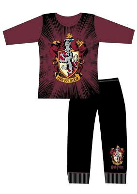 Girls Harry Potter Pyjamas Nightwear Character PJs Gryffindor Hogwarts