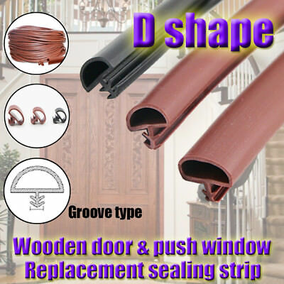 D Shape Rubber Sealing Strip Timber Window Door Gasket Seal Draught Excluder B9