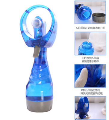 Summer Water Mist Sports Travel Beach Portable Mini Hand Held Spray Fan Toys New