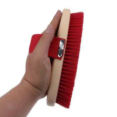 Horse Brush Mane Tail Hair Comb with Hand Strap for Equestrian Grooming Red