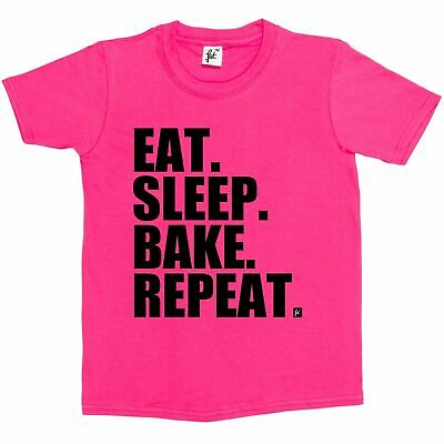 Eat. Sleep. Bake. Repeat. Cooking Bake Off  Kids Boys / Girls T-Shirt