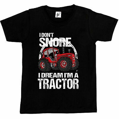 I Don't Snore I Dream I'm A Tractor Big Red Farm Kids Boys T-Shirt