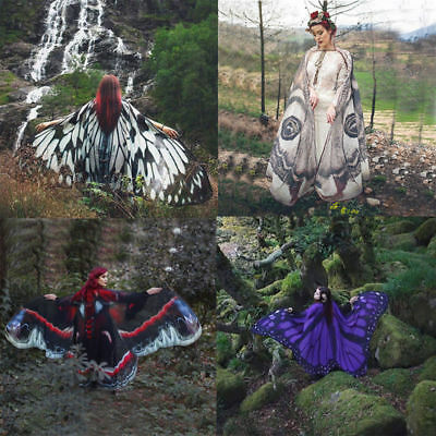 Adults Fabric Soft Butterfly Wings Shawl Fairy Fancy Dress Costume Accessory