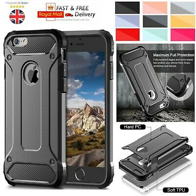Heavy Duty Shockproof Rugged Bumper Hybrid Armor Hard Back Case For Apple iPhone