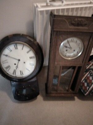 Clocks Antique Very Old - In Need Of Repair-  Suitable For Collector