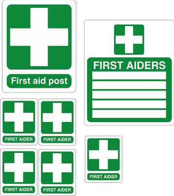 First Aid pack of stickers decals, high quality waterproof vinyl
