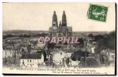 CPA Tours Cathedrale St Gatien