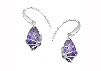 Tuscany Silver Sterling Silver White Cubic Zirconia Faceted Drop Earrings n0NfDpa