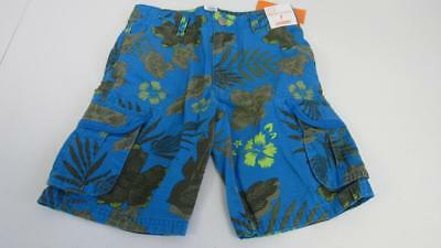 Gymboree Desert Day Camp Blue Floral Hawaiian Classic Fit Shorts Size 7 8 NEW