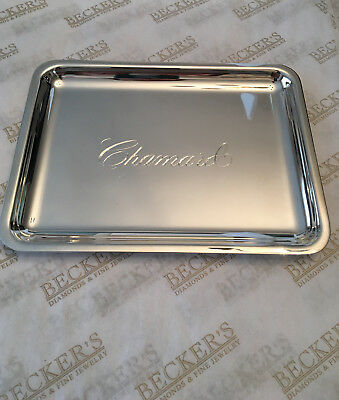 Small Tiffany & Co Sterling Silver Dresser Tray Engraved Chamard, 141 grams