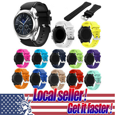 US Ship Sport Silicone Replacement Wrist Strap Watch Band For Samsung Gear S3 e0