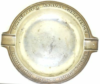 Exquisite Vintage TIFFANY & Co. Sterling Silver ASH TRAY. 1936 HAMMERMILL AGENTS