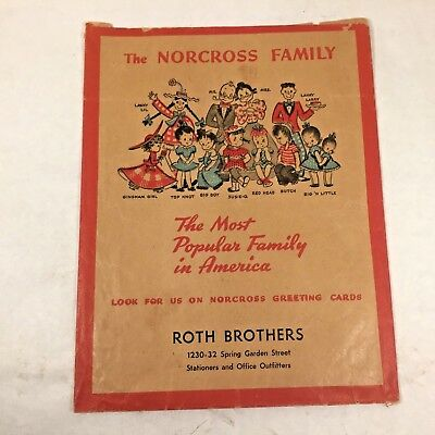 Vtg Advertising NORCROSS Greeting Cards Paper Bag ROTH BROTHERS Susie-Q Big Boy