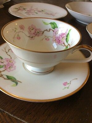 "56 Piece Heinrich/ H&C Bavarian China Set ""Blossomtime""  Flower China Set"